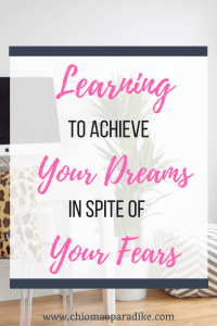 Many times, we face difficulties and problems when we want to pursue our dreams, become more productive and also get to do all the things we've always wanted to do. There are a few helpful that can help us overcome these fears and difficulties. Here's a post on how to achieve our goals in spite of our fears.