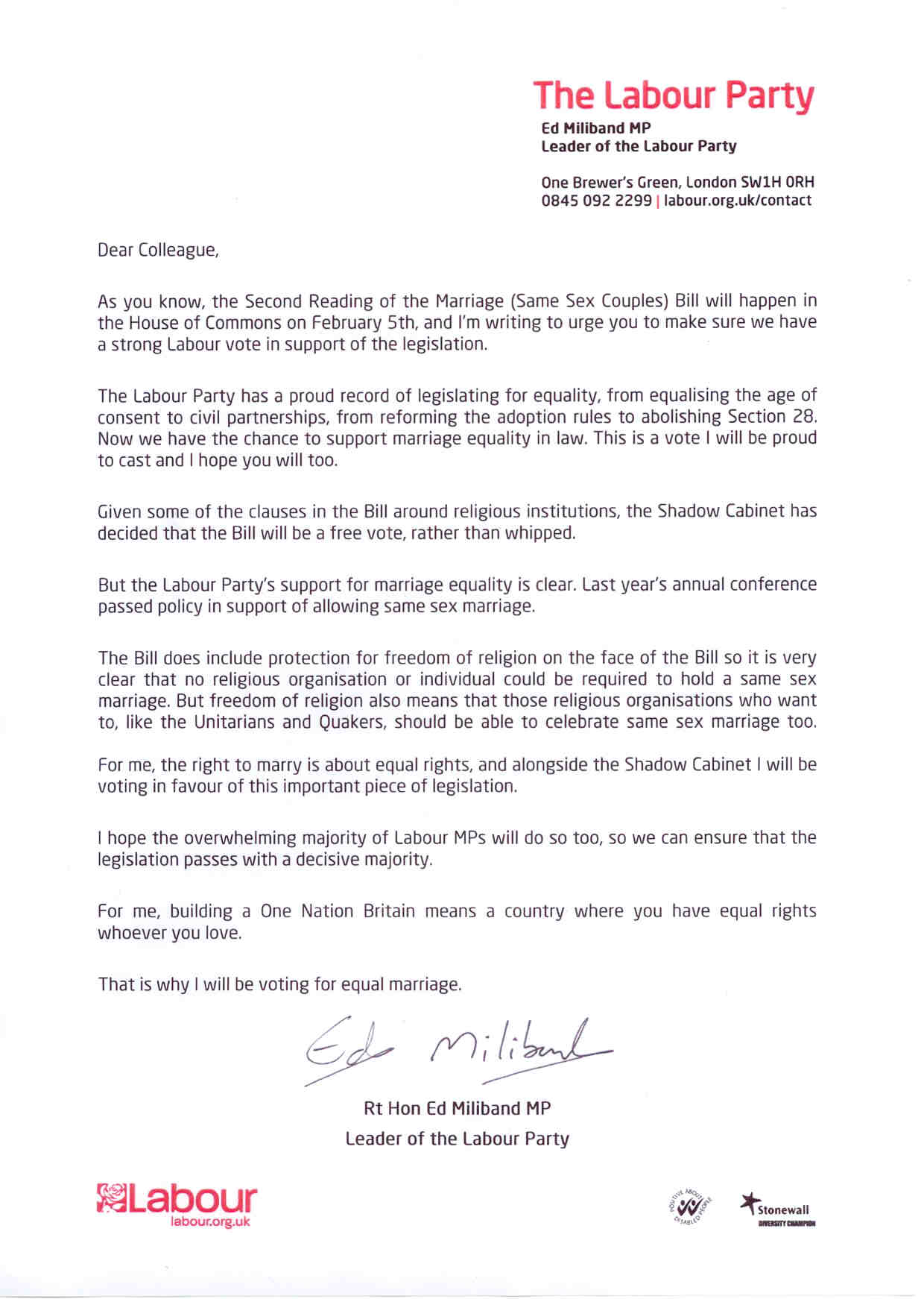 Application letter for leave marriage literacy coach cover letter sex marriage letter chi onwurah mp ed miliband same sex marriage letter ed miliband same sex marriage letter application letter for leave marriage spiritdancerdesigns Image collections