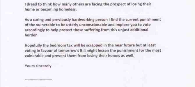 The bedroom tax – email sets out impact on resident Newcastle