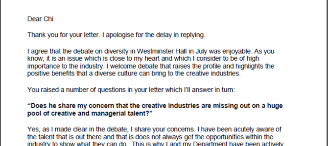 Minister's reply to Chi's media diversity debate