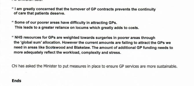 Chi demands better GP services