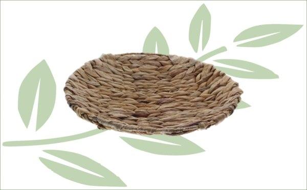 Schaal van gevlochten waterhyacint