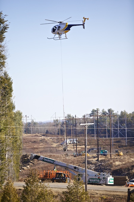 power line work with helicopters 1