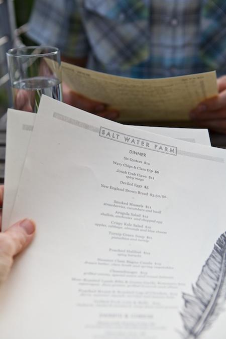 salt water farm menu