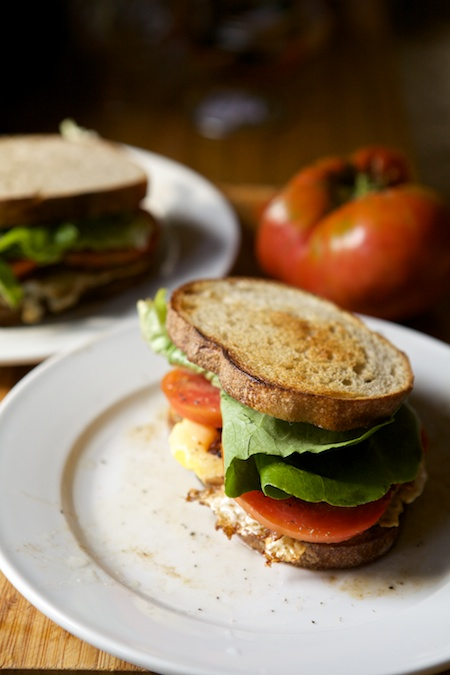 BLT with heirloom tomatoes 2