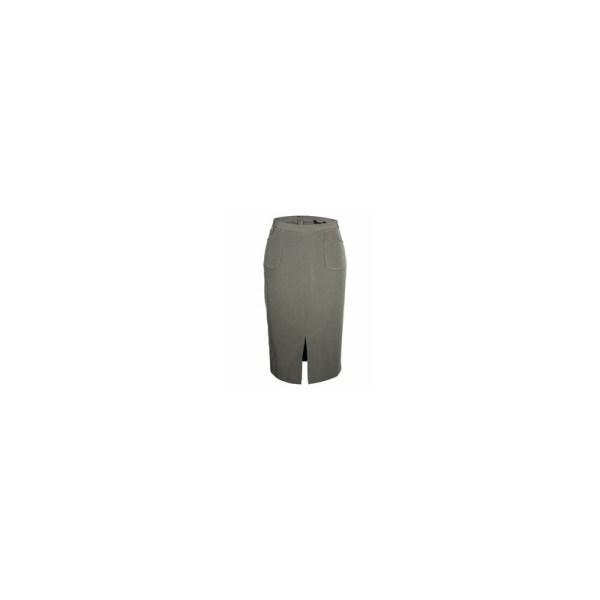 Atmosphere Front Slit Midi Skirt