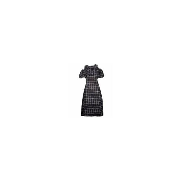 Square Patterned Maxi Dress