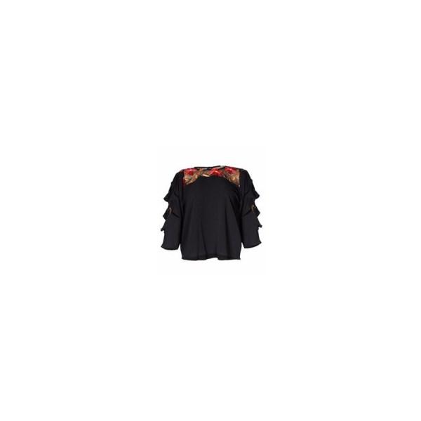 Women's Floral Shoulder Chiffon Top