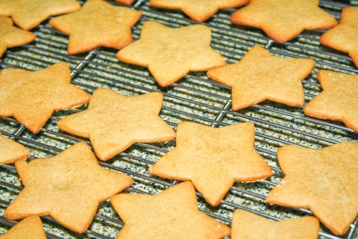 Crunchy Gingerbread Cookies in a cooling rack