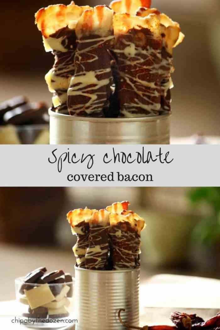 Spicy chocolate covered bacon