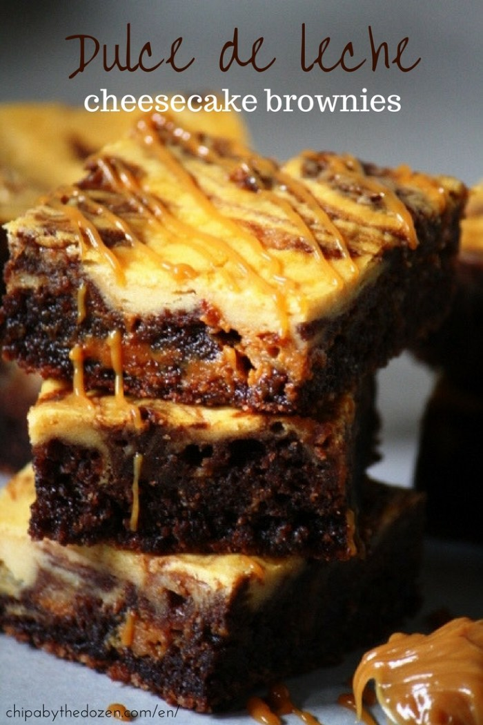 Dulce de leche brownie cheesecake