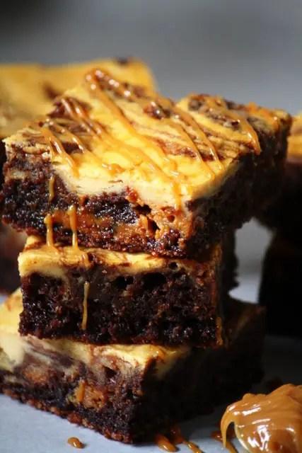 Dulce de leche cheesecake brownies