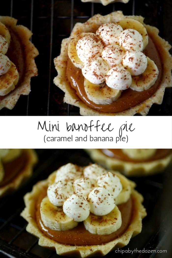 Mini banoffee pie (caramel and banana pies)