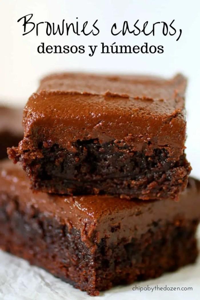 Brownies caseros, densos y húmedos