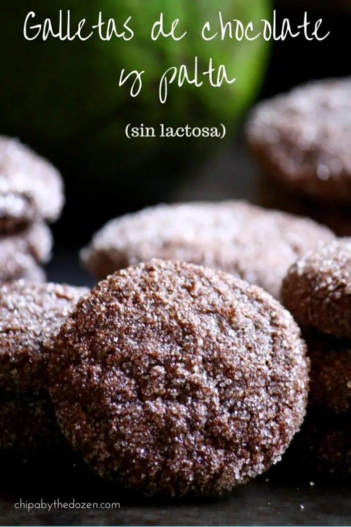 Galletas de chocolate y palta (sin lactosa)