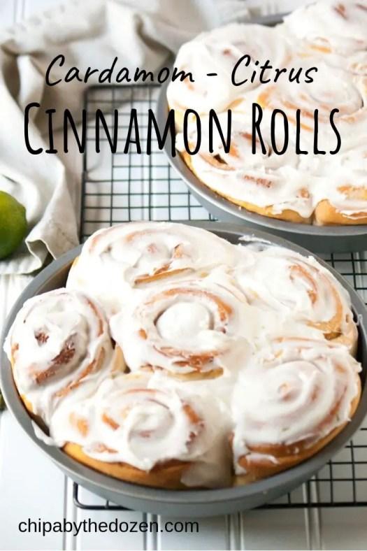 Cardamom – Citrus Cinnamon Rolls