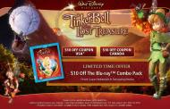 $10 off Tinkerbell and the Lost Treasure Blu-Ray Combo Pack