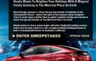 2009 Honda Holiday Family Gathering Sweepstakes