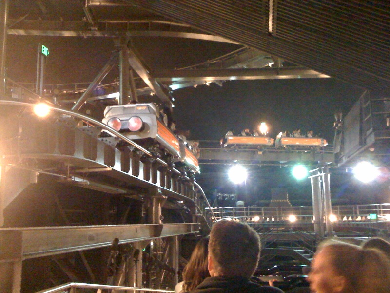 Disney Pic of the Day – Space Mountain with the lights on
