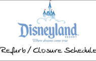 Refurb/Closure Schedule for Disneyland May 2010