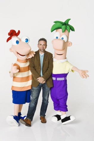 """PHINEAS, JEFF """"SWAMPY"""" MARSH (CREATOR AND EXECUTIVE PRODUCER, """"PHINEAS AND FERB), FERB"""