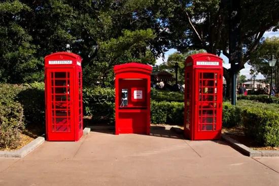 Disney disconnects the UK Pavilion Phone Boxes…