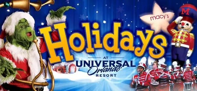 Holiday Celebration at Universal Orlando: December 5, 2015–January 2, 2016