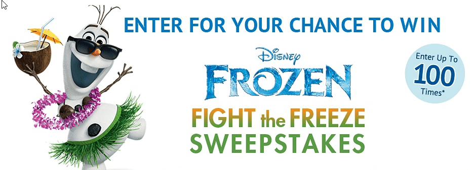 Enter Frozen's Fight the Freeze Sweepstakes to win a trip to Disney's Aulani Resort