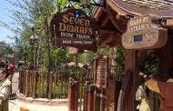 Attraction Closures for the Dedication of the Seven Dwarfs Mine Train