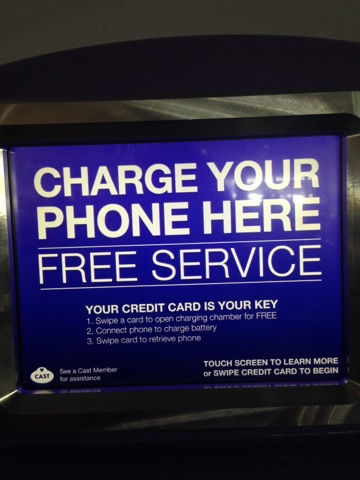 Electric Addition to WDW Tomorrowland makes Charging Phones a Breeze