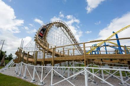 Fun Spot Wooden Roller Coaster