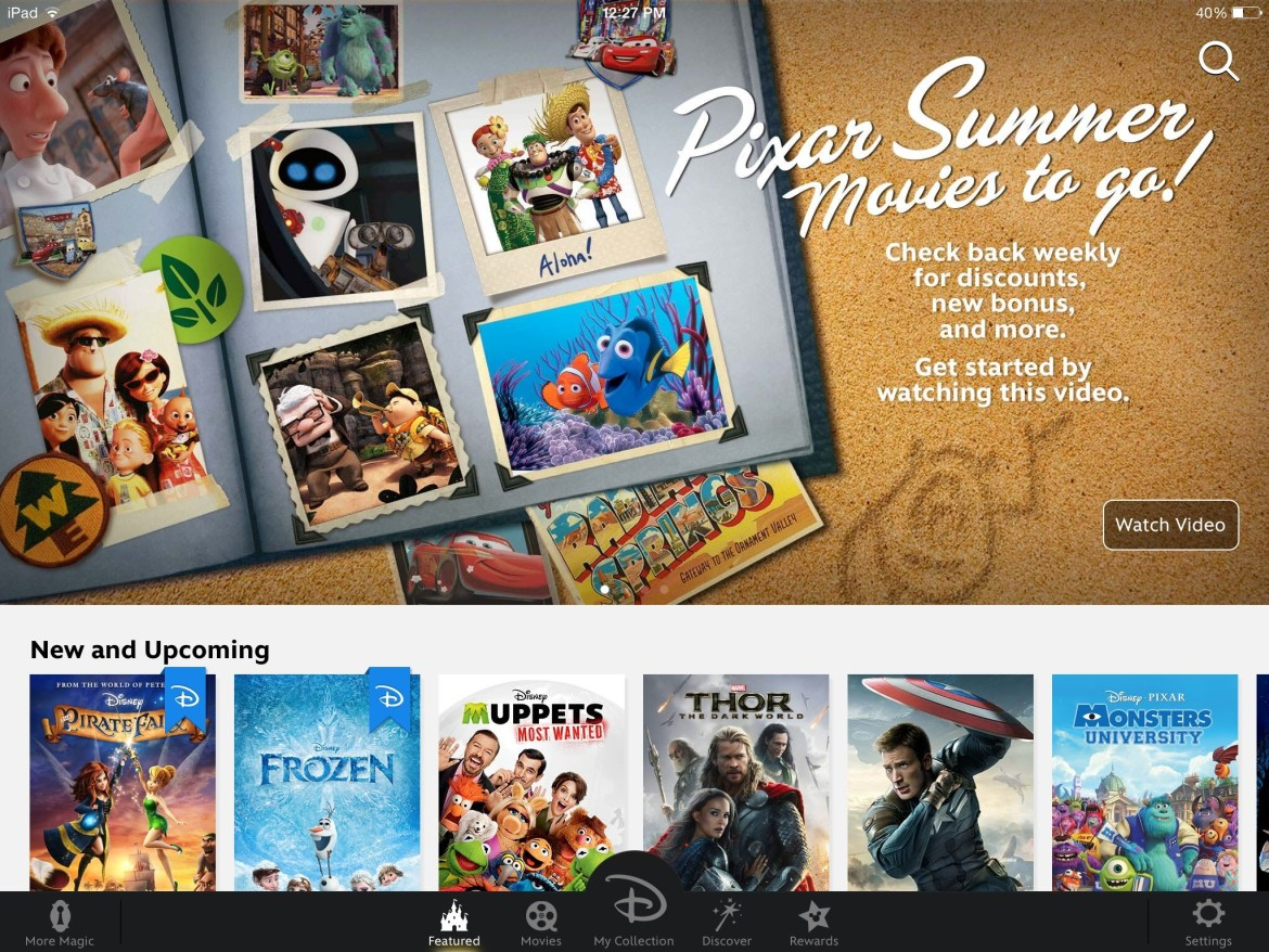Disney Movies Anywhere Now Offers Pixar Summer Movies To Go