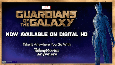 Marvel's Guardians of the Galaxy comes out on Digital HD Today!