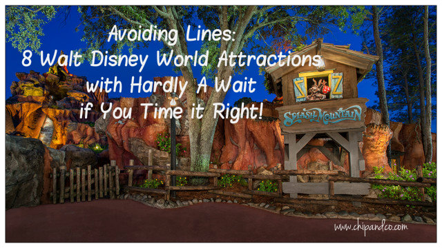 8 Walt Disney World Attractions with Hardly A Wait if You Time it Right!