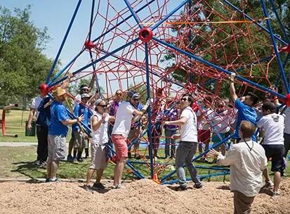 Disneyland VoluntEARS Build a Playground in Anaheim