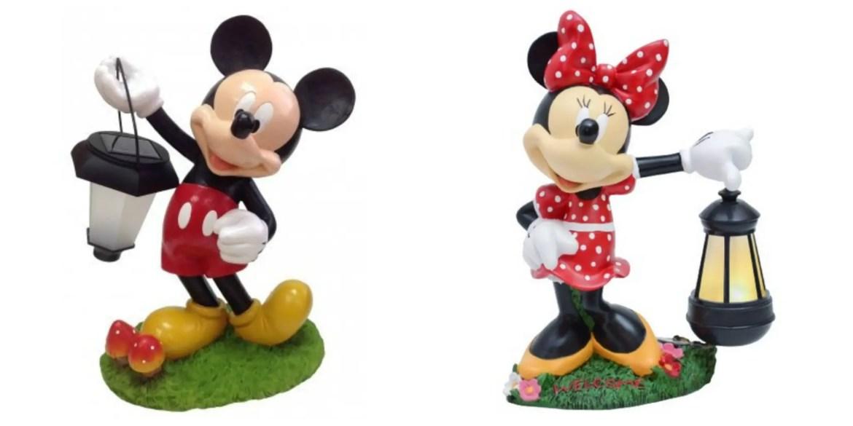 Disney Finds – Mickey & Minnie Solar Statues
