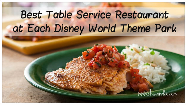 Best Table Service Restaurant at Each Disney World Theme Park