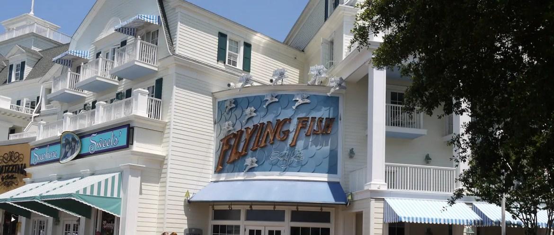 Flying Fish Cafe at Disney's Boardwalk Resort Will Close for Refurbishment Next Year