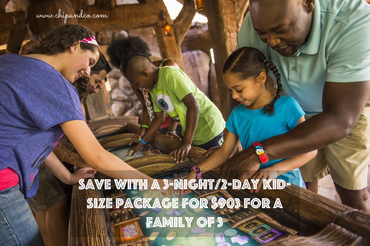 Save with a Walt Disney World 3-Night/2-Day Kid-Size Package for $903 for a Family of 3