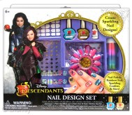 "Descendants Nail Design Set Licensee: Innovative Designs MSRP: $14.99 Retailers: Toys ""R"" Us & Kohl's Available: August 15 Create sparkling nail designs and show off your trendy style in many ways using nail polish, rainbow foil, sparkling confetti and more!"