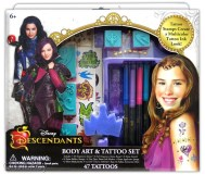 """ Descendants Body Art & Tattoo Set Licensee: Innovative Designs MSRP: $12.99 Retailers: Toys ""R"" Us & Kohl's Available: August 15 Create your own multicolor tattoo ink look inspired by favorite Descendants characters. """