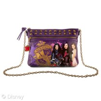 Descendants Auradon Prep Crossbody Bag MSRP: $22.95 Retailers: Disney Store and DisneyStore.com Available: Now Zap the world while wearing this purple faux leather purse featuring golden foil Auradon Prep crest. Matching zippers, studs, charm, and chunky crossbody chain will make this accessory a spellcaster's daily essential.