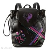 Descendants Backpack Tote MSRP: $24.95 Retailers: Disney Store and DisneyStore.com Available: Now The Descendants have got your back with this faux leather fashion tote carried like a backpack. Adjustable straps, drawstrap top, and magnetic flap add a crafty convenience to the day.