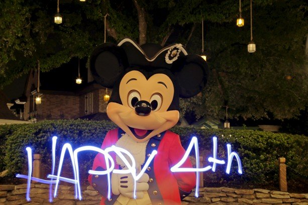 Fourth of July Light-Painting Video Magic at Walt Disney World Resort