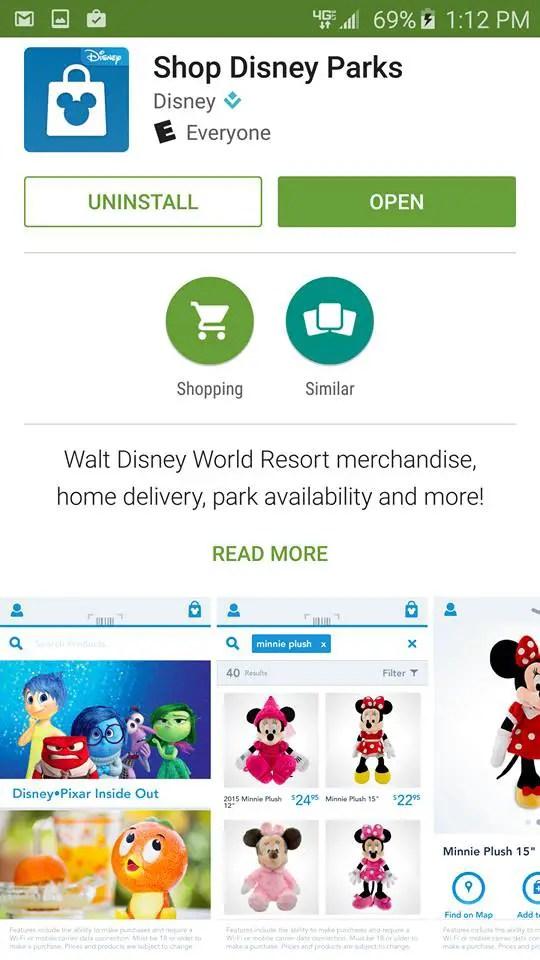 """Disney's """"Shop Disney Parks"""" App has Been Updated"""