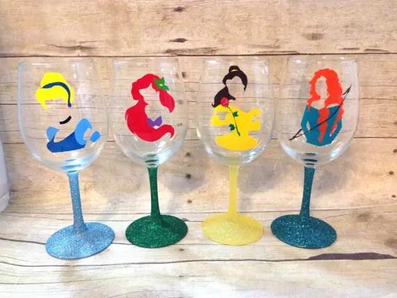 Disney Finds – Handmade Disney Wine Glasses