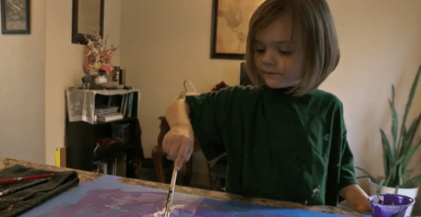 A 3 Year Old is Painting Her Way to Disneyland