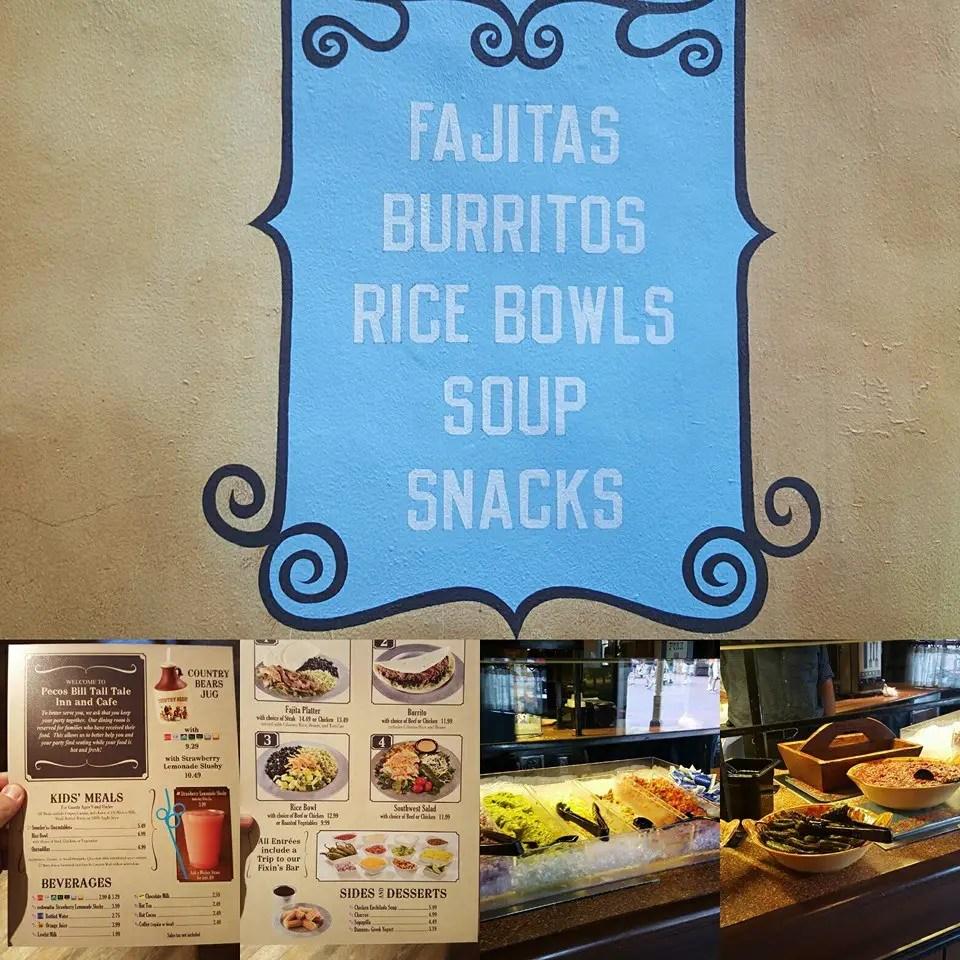 Pecos Bill Tall Tale Inn and Cafe New Menu