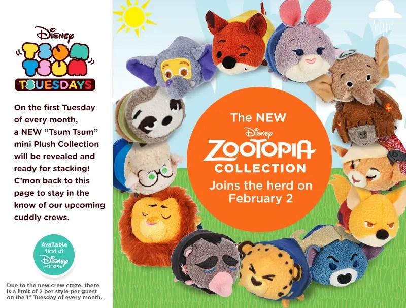 Zootopia Tsum Tsum Coming in February