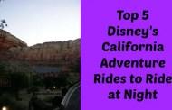 Top 5 Disney's California Adventure Rides to Ride at Night